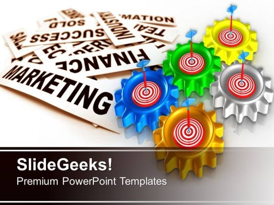 Gear With Target Gearwheels PowerPoint Templates And PowerPoint Themes 0712