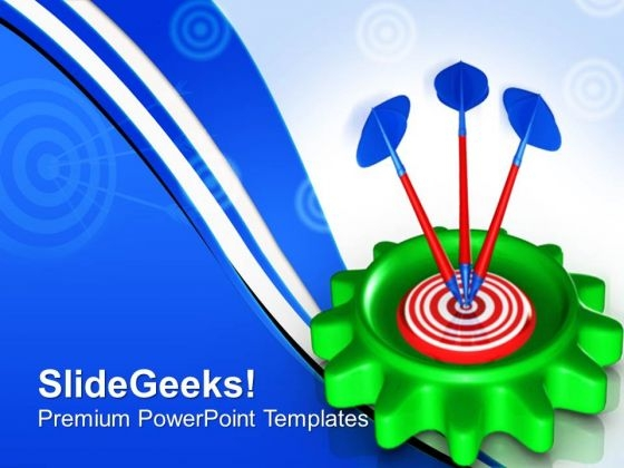 Gear With Target Success PowerPoint Templates And PowerPoint Themes 0712