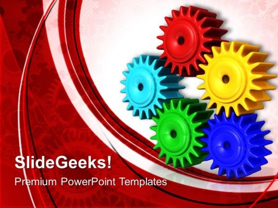 Gears01 Communication PowerPoint Templates And PowerPoint Themes 0512