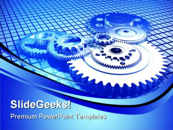Gears01 Industrial PowerPoint Themes And PowerPoint Slides 0511