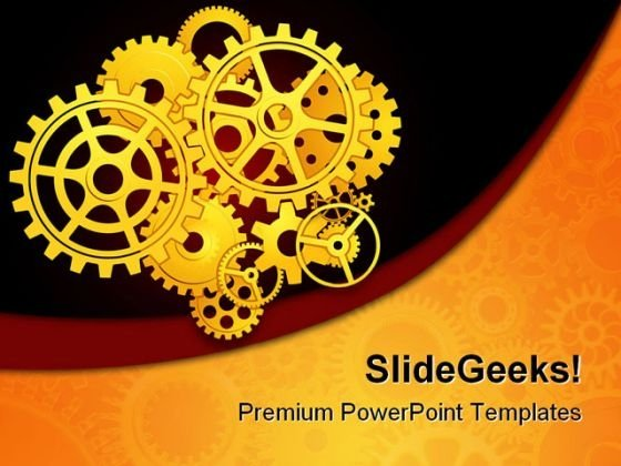Gears02 Industrial PowerPoint Themes And PowerPoint Slides 0511
