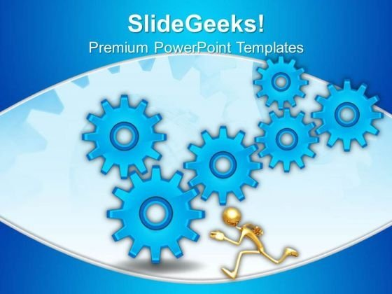 Gears Blue Gearwheels PowerPoint Templates And PowerPoint Themes 0512