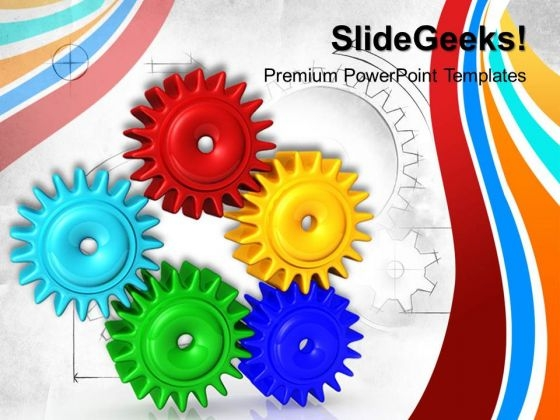 Gears Communication PowerPoint Templates And PowerPoint Themes 0512