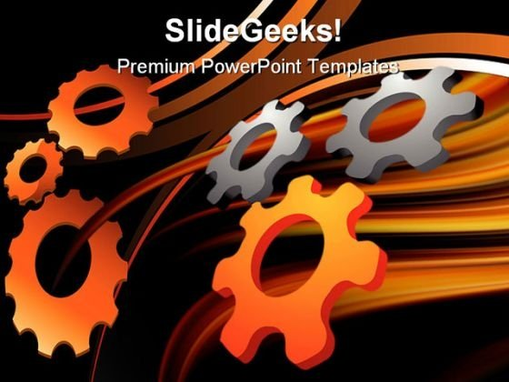 Gears Industrial PowerPoint Template 0610