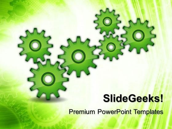 Gears Industrial PowerPoint Templates And PowerPoint Themes 0412