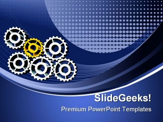 Gears Industrial PowerPoint Themes And PowerPoint Slides 0511