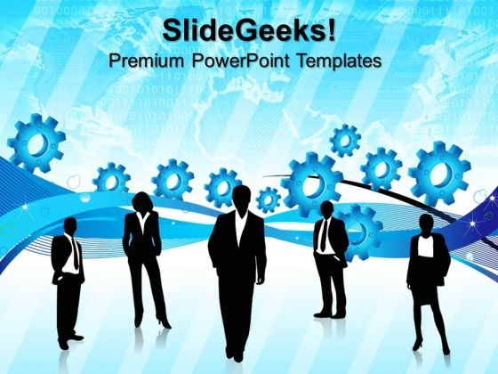 Gears Industry People PowerPoint Templates And PowerPoint Themes 0512
