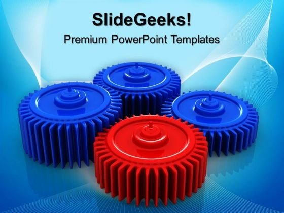 Gears Process Leadership PowerPoint Templates And PowerPoint Themes 0512