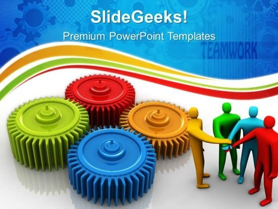 Gears Process Teamwork PowerPoint Templates And PowerPoint Themes 0612
