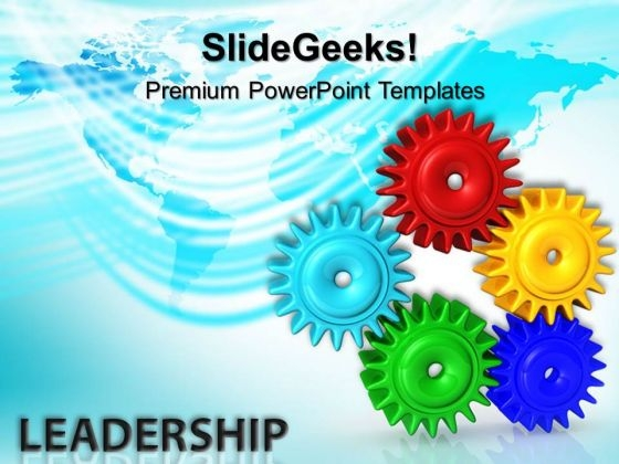 Gears Success Leadership PowerPoint Templates And PowerPoint Themes 0312