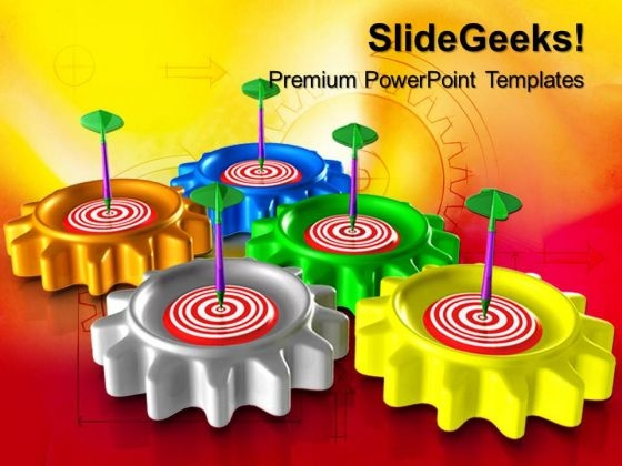 Gears Target Business PowerPoint Templates And PowerPoint Themes 0712