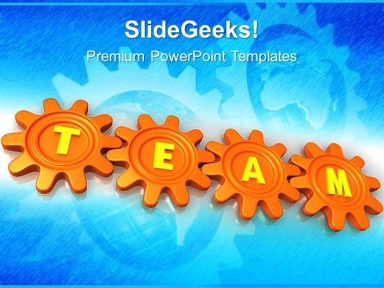 Gears Team Symbol PowerPoint Templates And PowerPoint Themes 0512