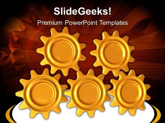 Gears Teamwork Abstract PowerPoint Templates And PowerPoint Themes 0512