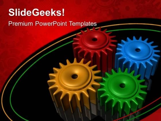 Gears Teamwork PowerPoint Templates And PowerPoint Themes 0512