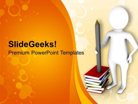 get the knowledge from books powerpoint templates ppt backgrounds
