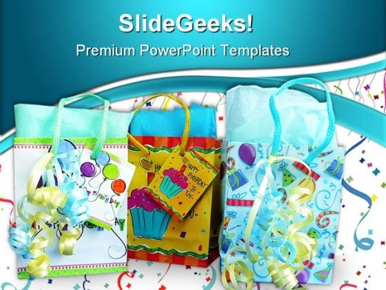 Gift Bags Festival PowerPoint Templates And PowerPoint Backgrounds 0311