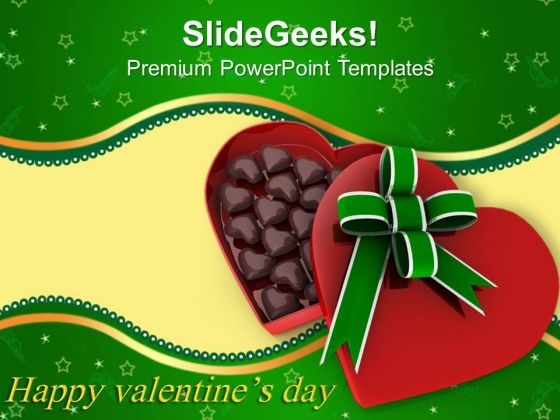 Gift Box Full Of Chocolates Love PowerPoint Templates Ppt Backgrounds For Slides 0213