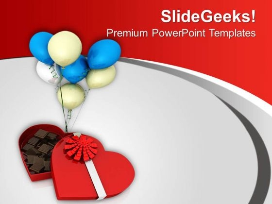 Gift Chocolates And Balloons For Party Powerpoint Templates Ppt