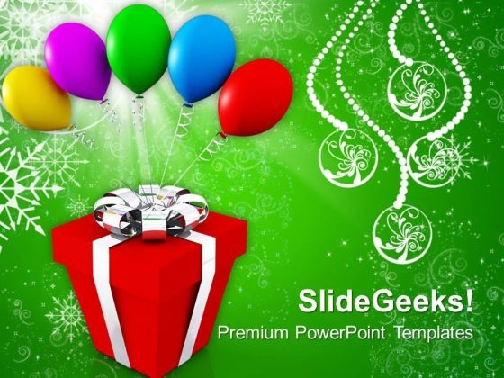 Gifts And Balloons Celebration Events PowerPoint Templates Ppt Backgrounds For Slides 1112