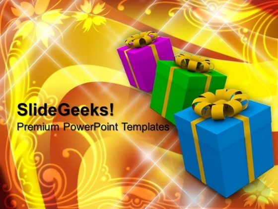 Gifts With Different Wrappings Lifestyle PowerPoint Templates And PowerPoint Themes 1012