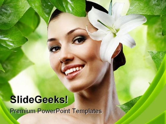 Girl And Spa Beauty PowerPoint Themes And PowerPoint Slides 0211