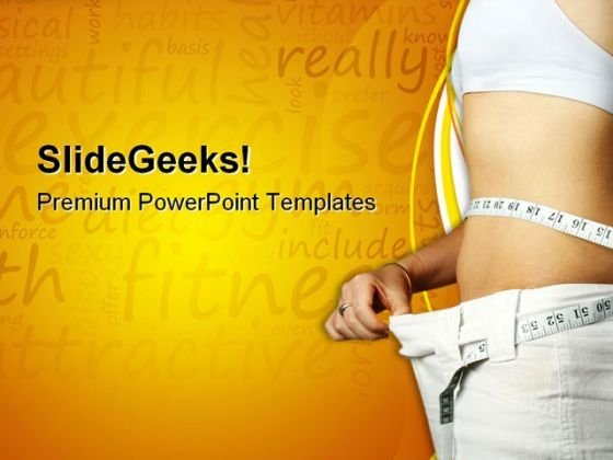 Girl Loss Weight Health PowerPoint Themes And PowerPoint Slides 0711
