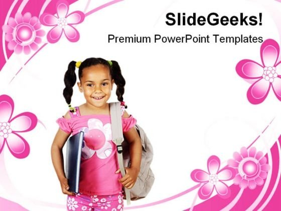 Girl Studying Future PowerPoint Backgrounds And Templates 1210
