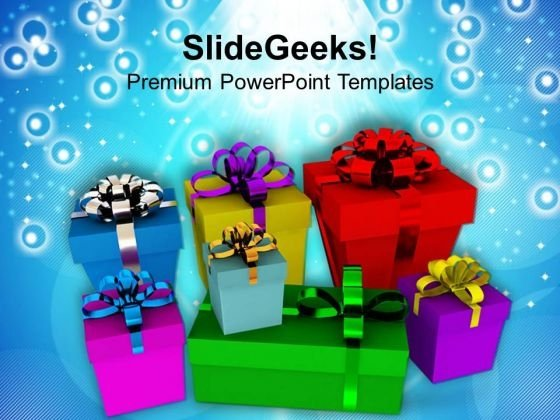 Give Surprise Gifts To Your Friends PowerPoint Templates Ppt Backgrounds For Slides 0413
