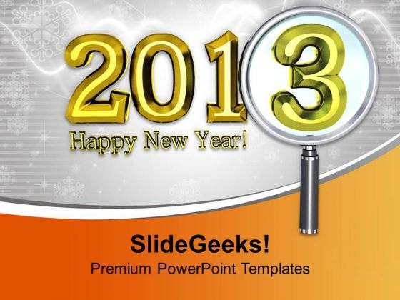 Give Wishes For New Year PowerPoint Templates Ppt Backgrounds For Slides 0413