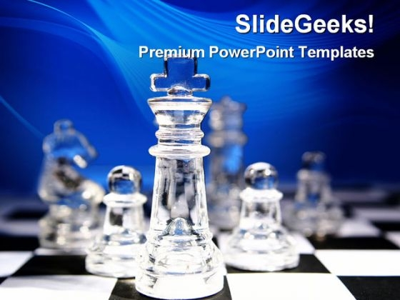 Glass Chess Game PowerPoint Themes And PowerPoint Slides 0311
