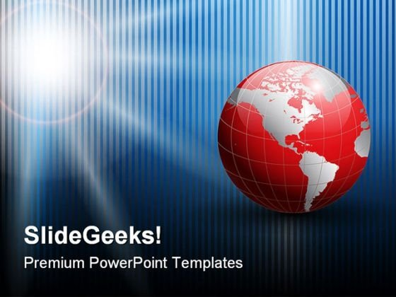 Global Abstract Business PowerPoint Template 0810