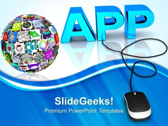 Global Apps Mouse PowerPoint Templates And PowerPoint Themes 0812