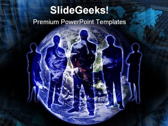Global Business Earth PowerPoint Themes And PowerPoint Slides 0811