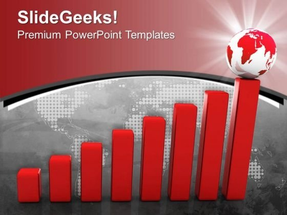 Six Steps Of Global Business Strategy Powerpoint Template