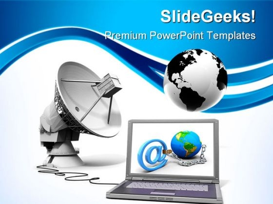 Global Communication Internet PowerPoint Themes And PowerPoint Slides 0411
