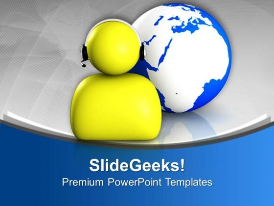 Global Communication Is Required For Business PowerPoint Templates Ppt Backgrounds For Slides 0713