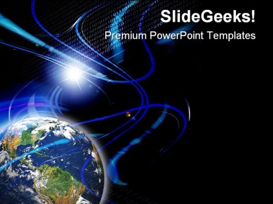 Global Communication PowerPoint Themes And PowerPoint Slides 0611