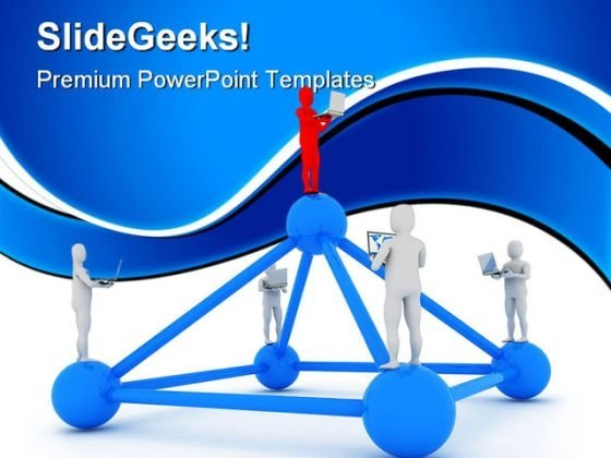 Global Computer Network Leadership PowerPoint Templates And PowerPoint Backgrounds 0911