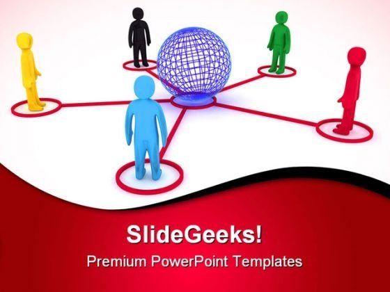 Global Connection Communication PowerPoint Templates And PowerPoint Backgrounds 0611