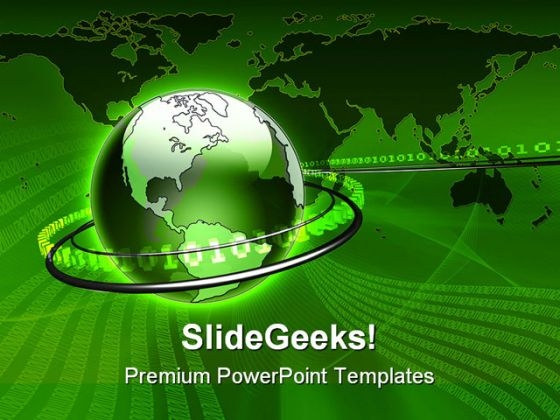 Global Data Communication PowerPoint Templates And PowerPoint Backgrounds 0511