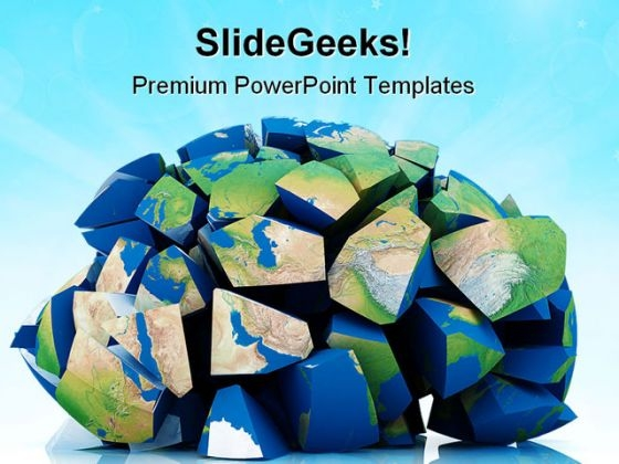Global Destruction Earth PowerPoint Themes And PowerPoint Slides 0411