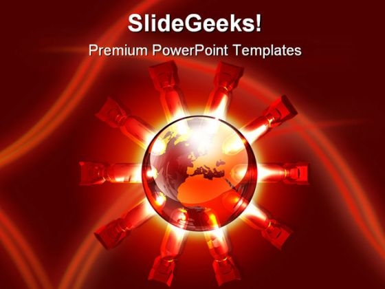 Global Destruction Globe PowerPoint Template 1110