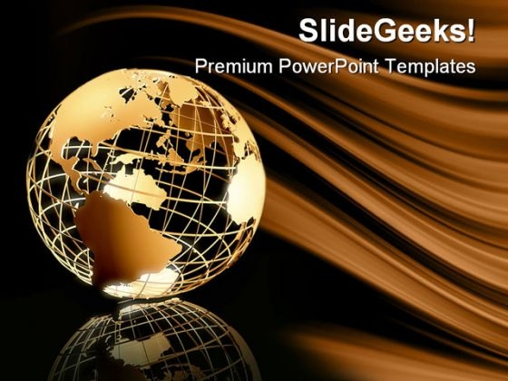 Global Earth PowerPoint Background And Template 1210