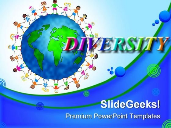 Global Kids Diversity Children PowerPoint Templates And PowerPoint Backgrounds 0311