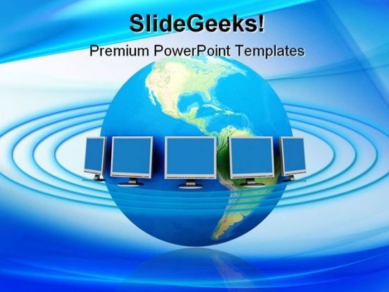 Global Network Concept Communication PowerPoint Themes And PowerPoint Slides 0411