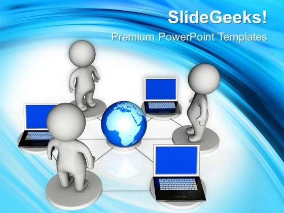 Global Networking Computer PowerPoint Templates And PowerPoint Themes 0712