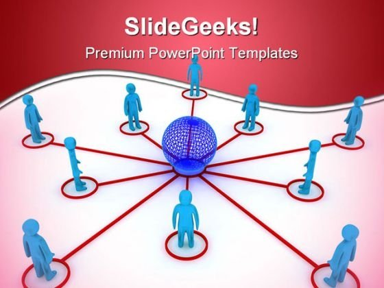 Global Networking Globe PowerPoint Templates And PowerPoint Backgrounds 0211