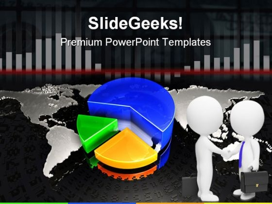 Global Pie Chart Business PowerPoint Templates And PowerPoint Backgrounds 0611
