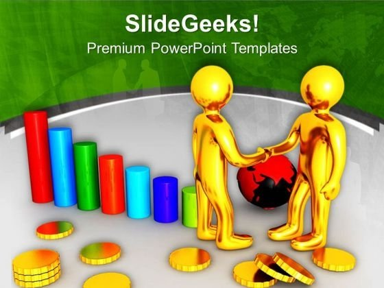 Global Relations Gives Good Financial Support PowerPoint Templates Ppt Backgrounds For Slides 0613