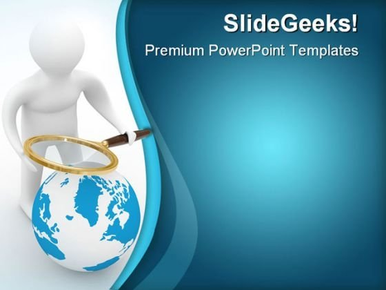 Global Search Earth PowerPoint Templates And PowerPoint Backgrounds 0611